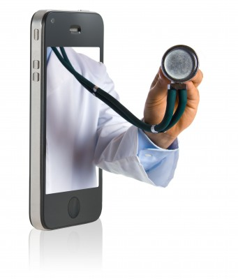 Stethoscope on a smartphone