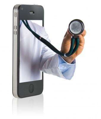 Stethoscope on a smartphone