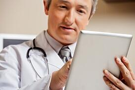 Doctor using a tablet