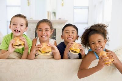 kids and fast food