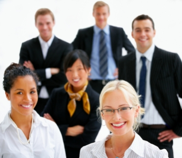 Young business professionals