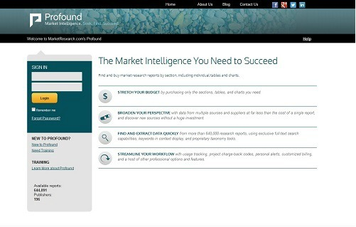 Profound Screenshot, featured on MarketResearch.com www.blog.marketresearch.com