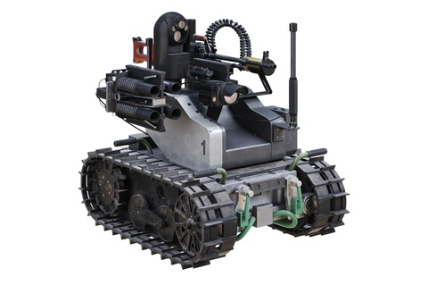Robots used in the military