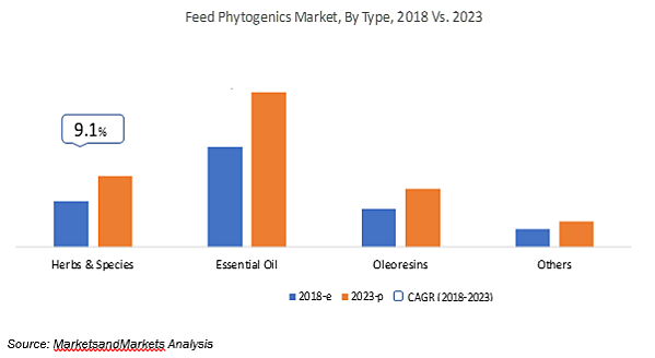 feed phytogenics chart market by type