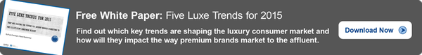 5 Luxe Trends for 2015, featured on www.blog.marketresearch.com